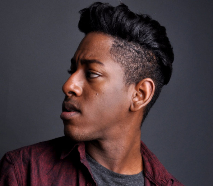 Straight Brushed Up Haircuts & Hairstyles for Black Men