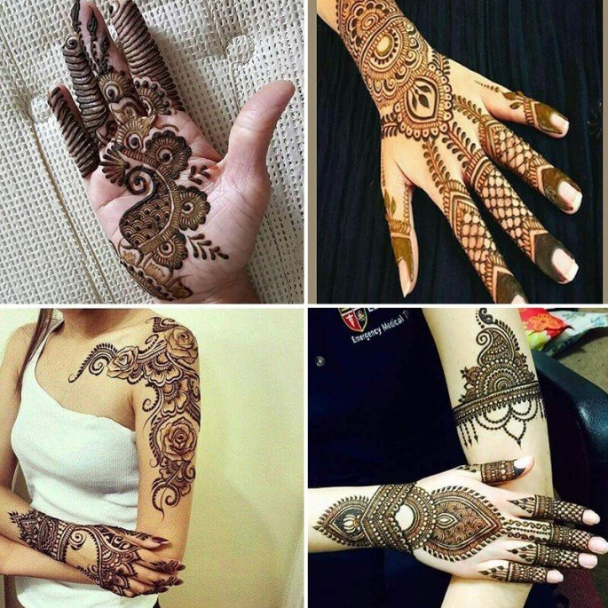 All The Top Trending Simple And Stylish Mehandi Designs