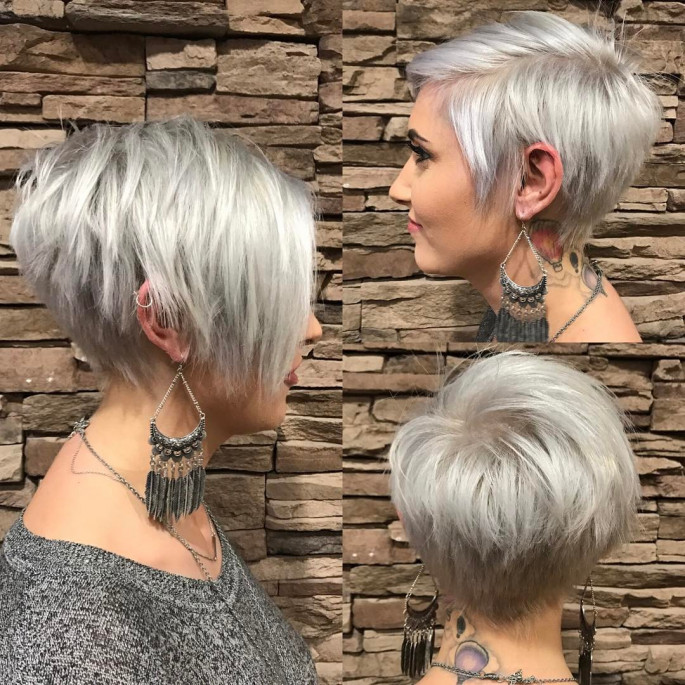Platinum-blonde Short Bob Haircuts & Hairstyles for Women