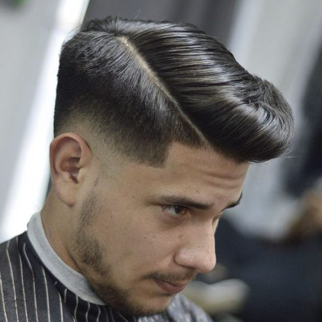 Side Part Pompadour Best Short Hairstyles for Men