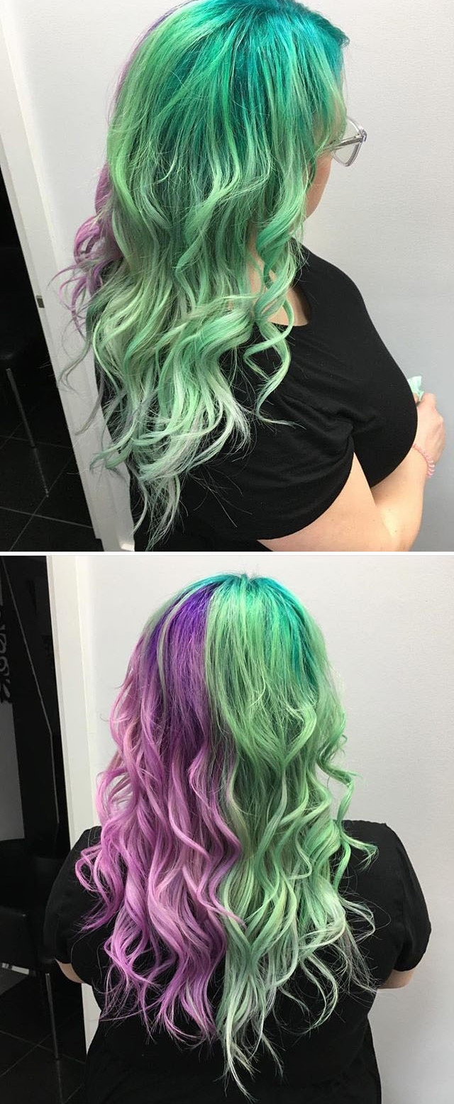 colored braided hairstyles