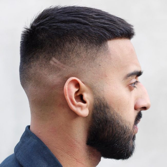 Caesar Haircut Smart Men Hairstyles for Round Faces