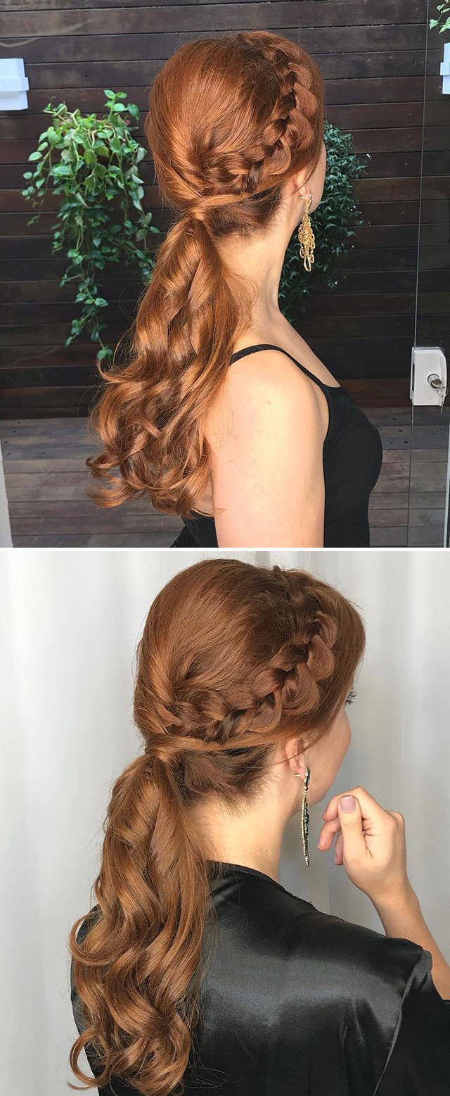 Red head  braided hairstyles
