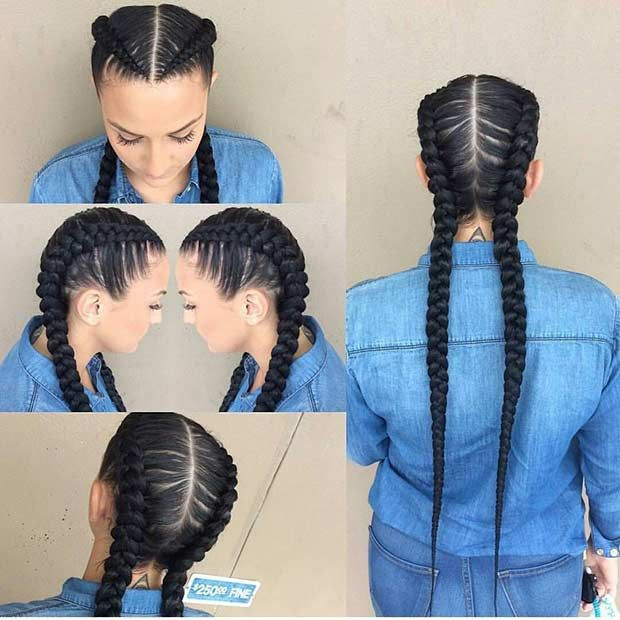 Super Long Cornrow Braids