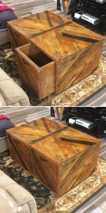 Pallet drawers