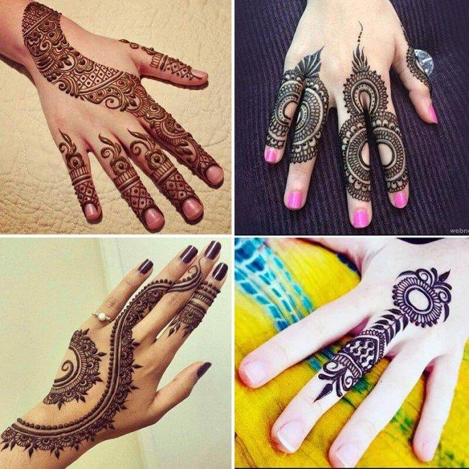 Simple Mehandi Designs For Full Hands Sensod