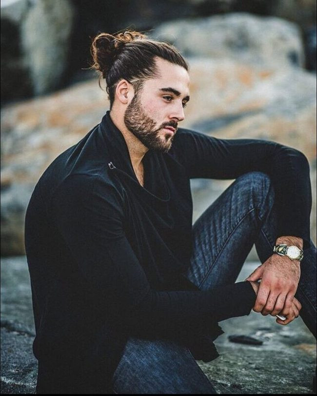 Top Knot Style Long Hairstyles For Men