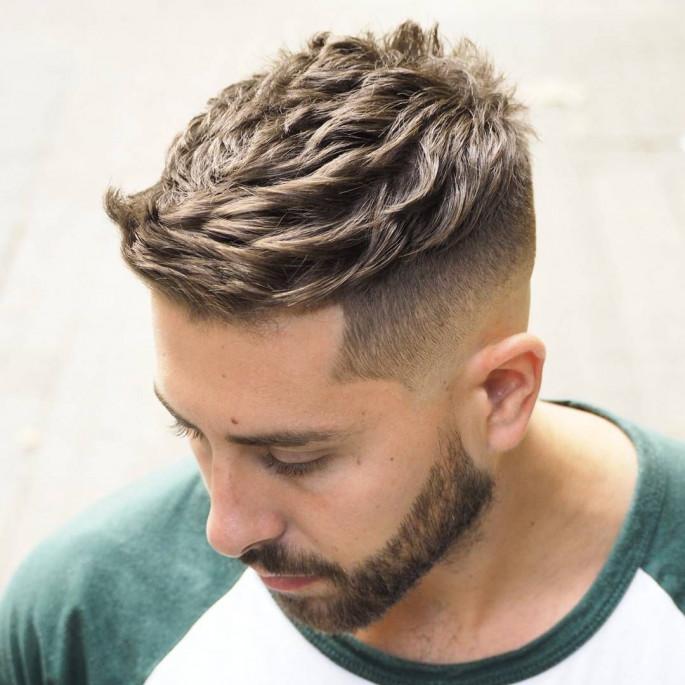 Quiff Haircut Fade Medium Length Men's Hairstyles
