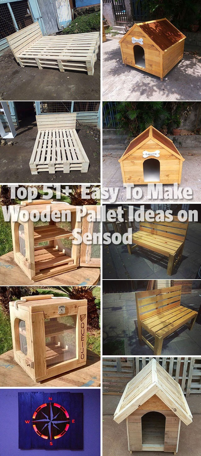 Top 51+  Easy To Make Wooden Pallet Ideas On Sensod