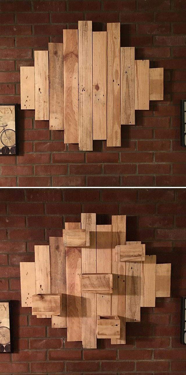 Pallet butter fly wall art