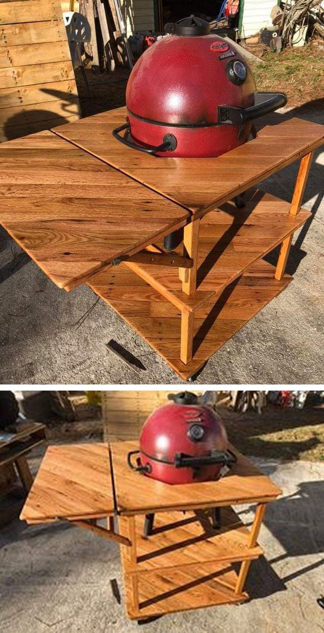 Pallet table with Hot plate