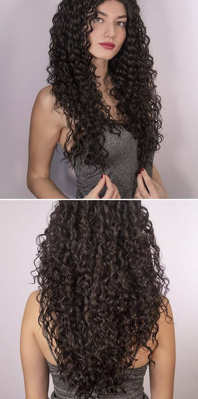 Long Curly Hairstyles For College Girls