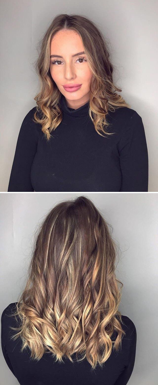 Messy Top Knot Long Curly Hairstyle