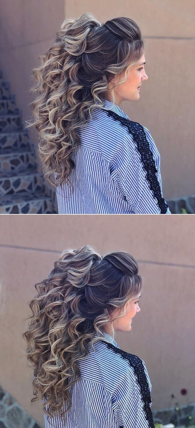 Elegant Long Curly Hairstyles With Bangs