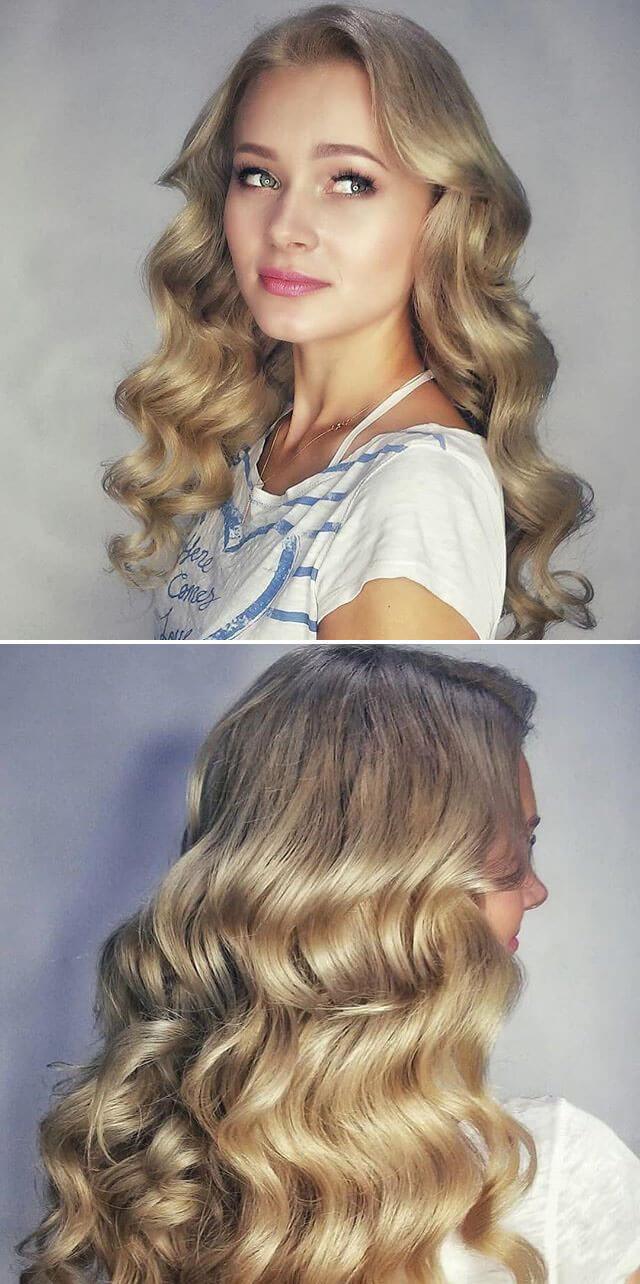 Long Blonde Braided hairstyles