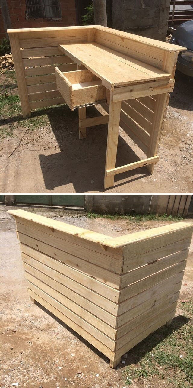 pallet table with drawer ideas on sensod