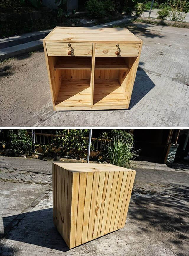 pallet side cabinet table ideas
