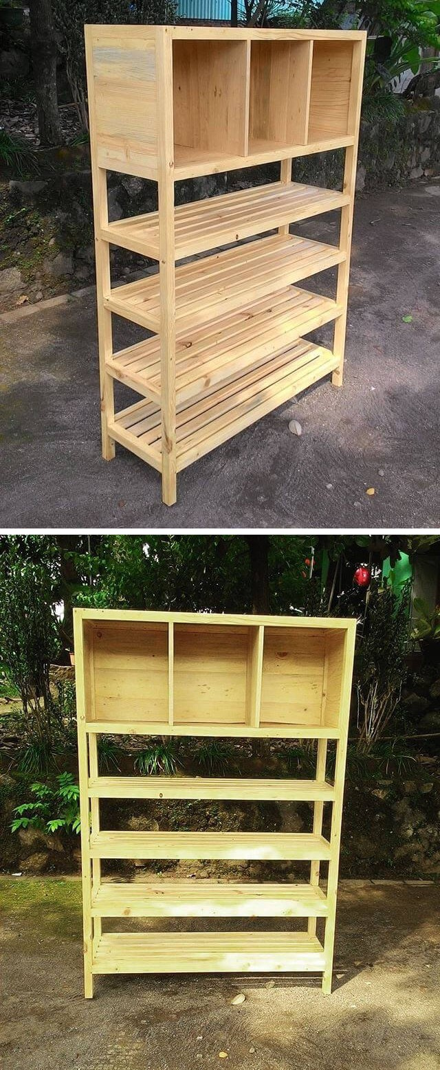 pallet storage shelf for wall ideas