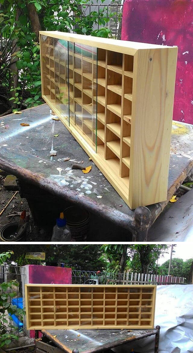 pallet storage shelf for wall