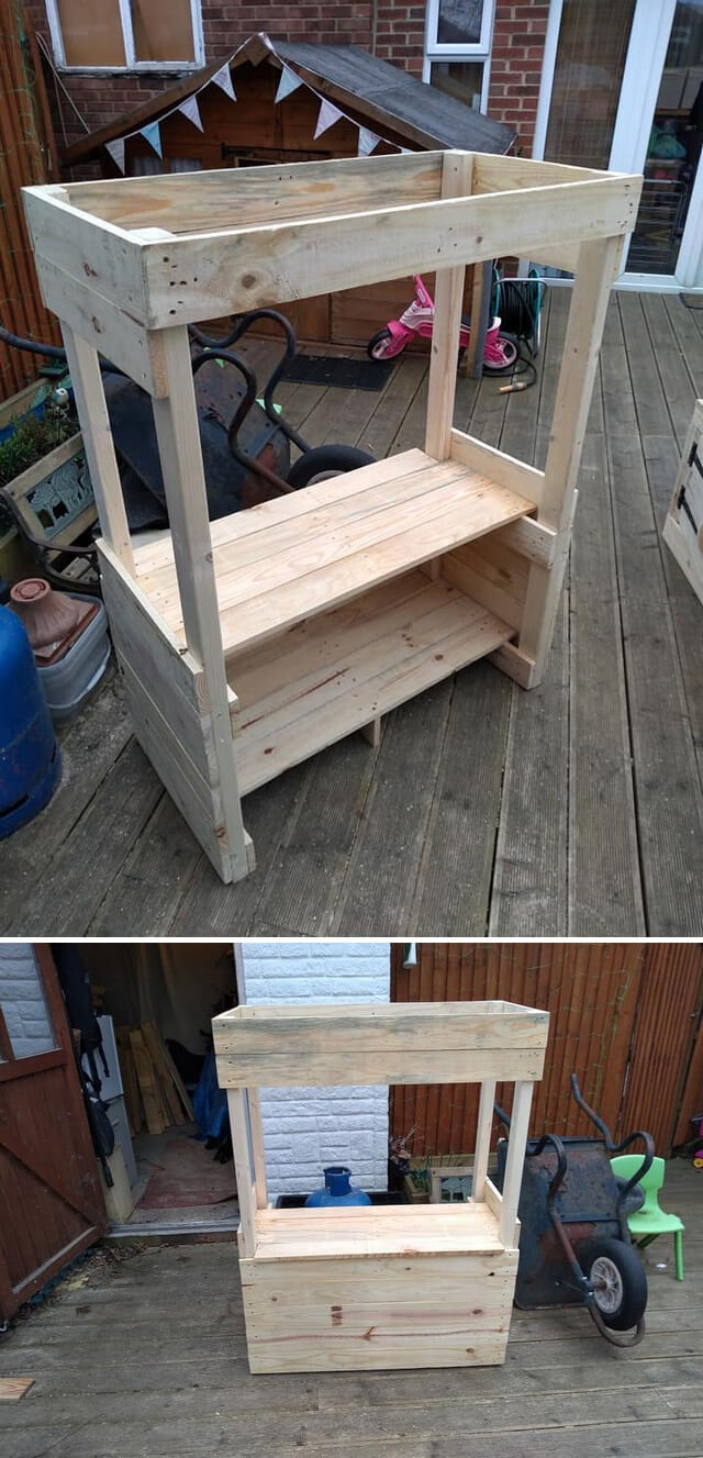 pallet garden planter shelf ideas