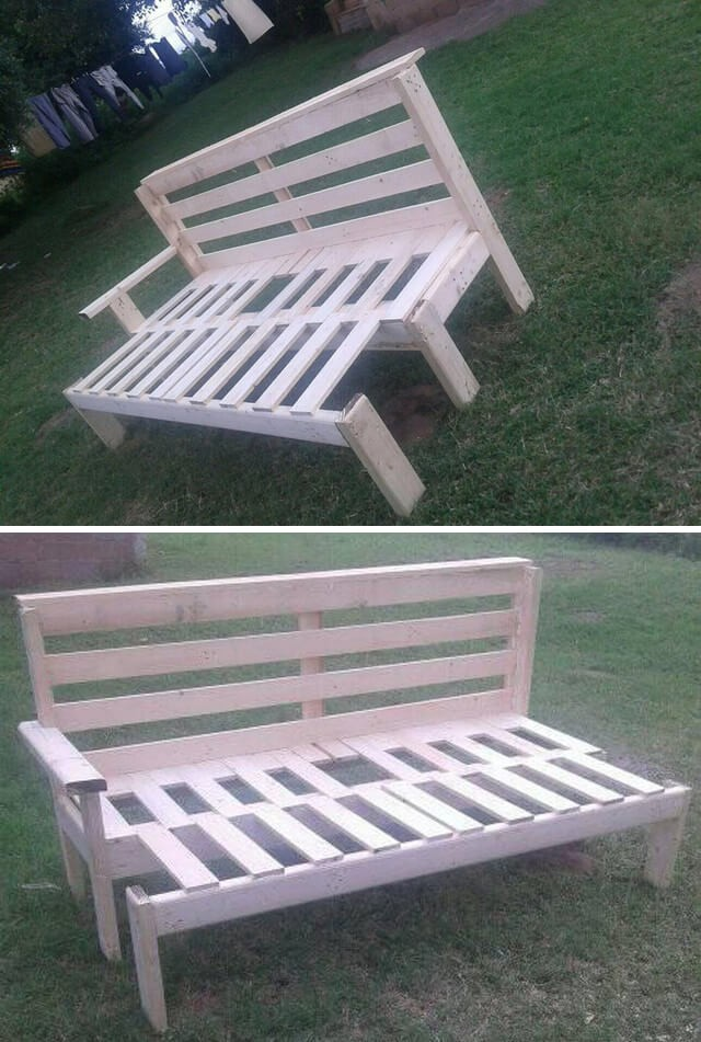 pallet bench ideas for garden