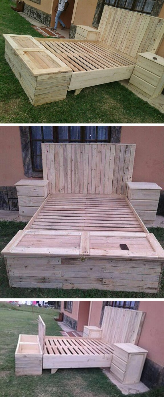 easy pallet bed frame ideas