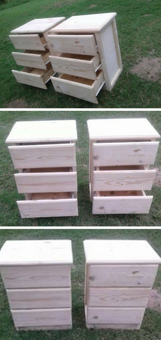 pallet cabinet drawer project ideas