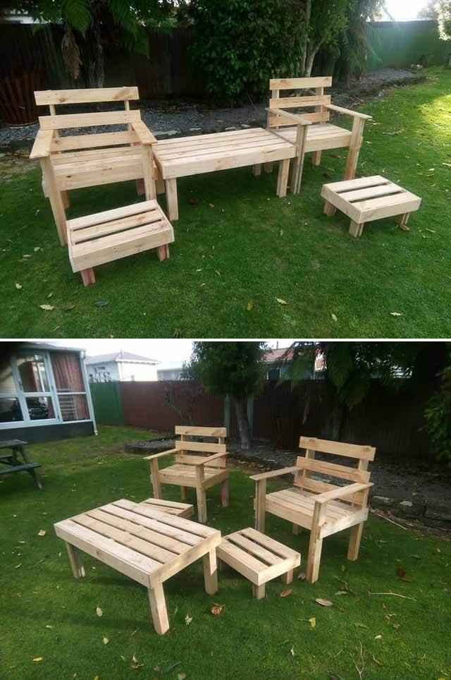 outdoor furniture made from wood pallets