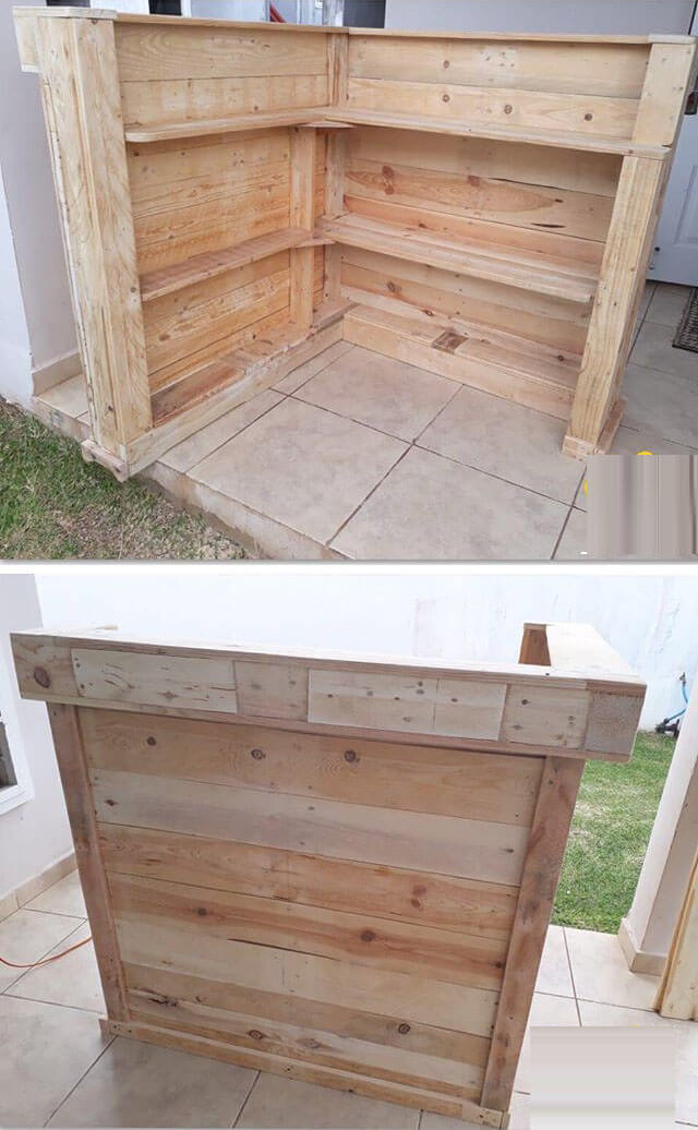 Pallet outdoor bar