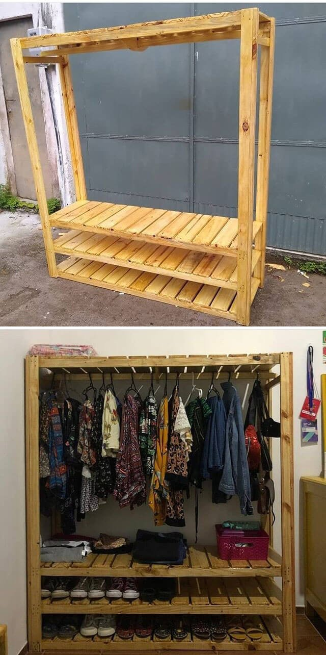 best wood pallet shelf