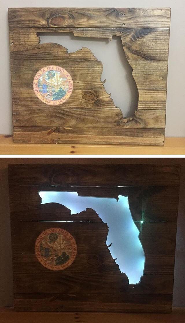 pallet wood frame art ideas