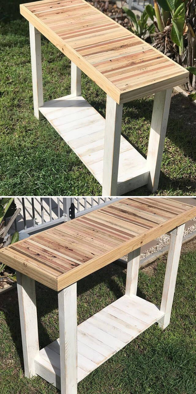 easy pallet side table ideas