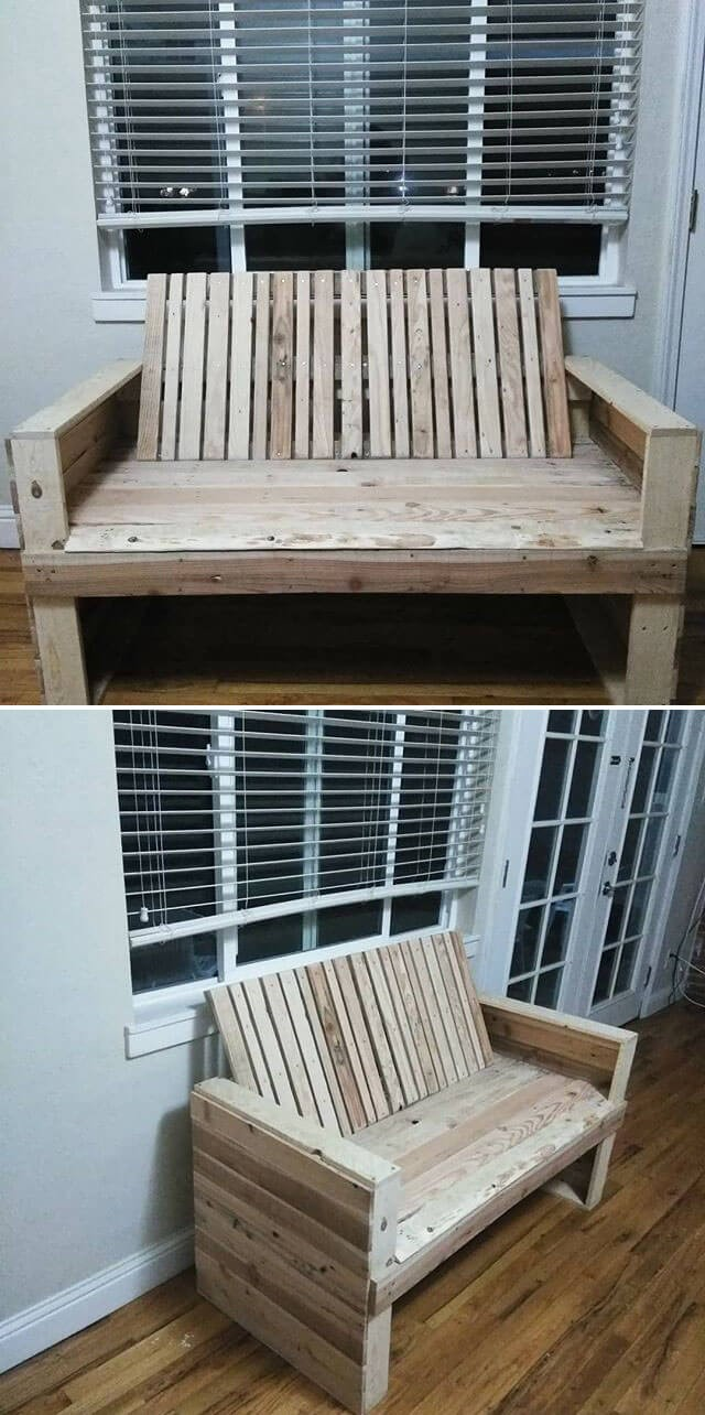 beautiful pallet bench ideas