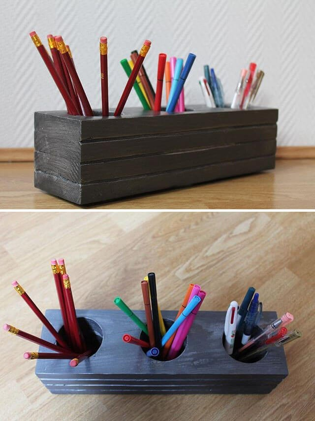 pallet pencil box ideas