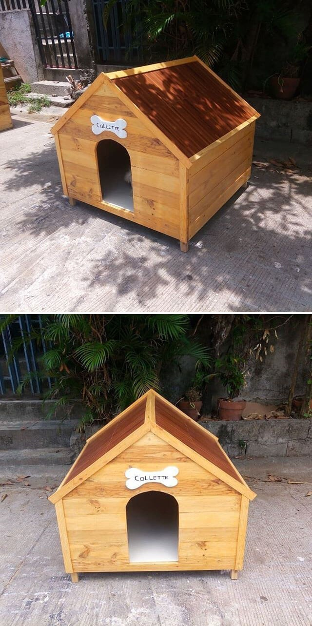 easy pallet pet house ideas