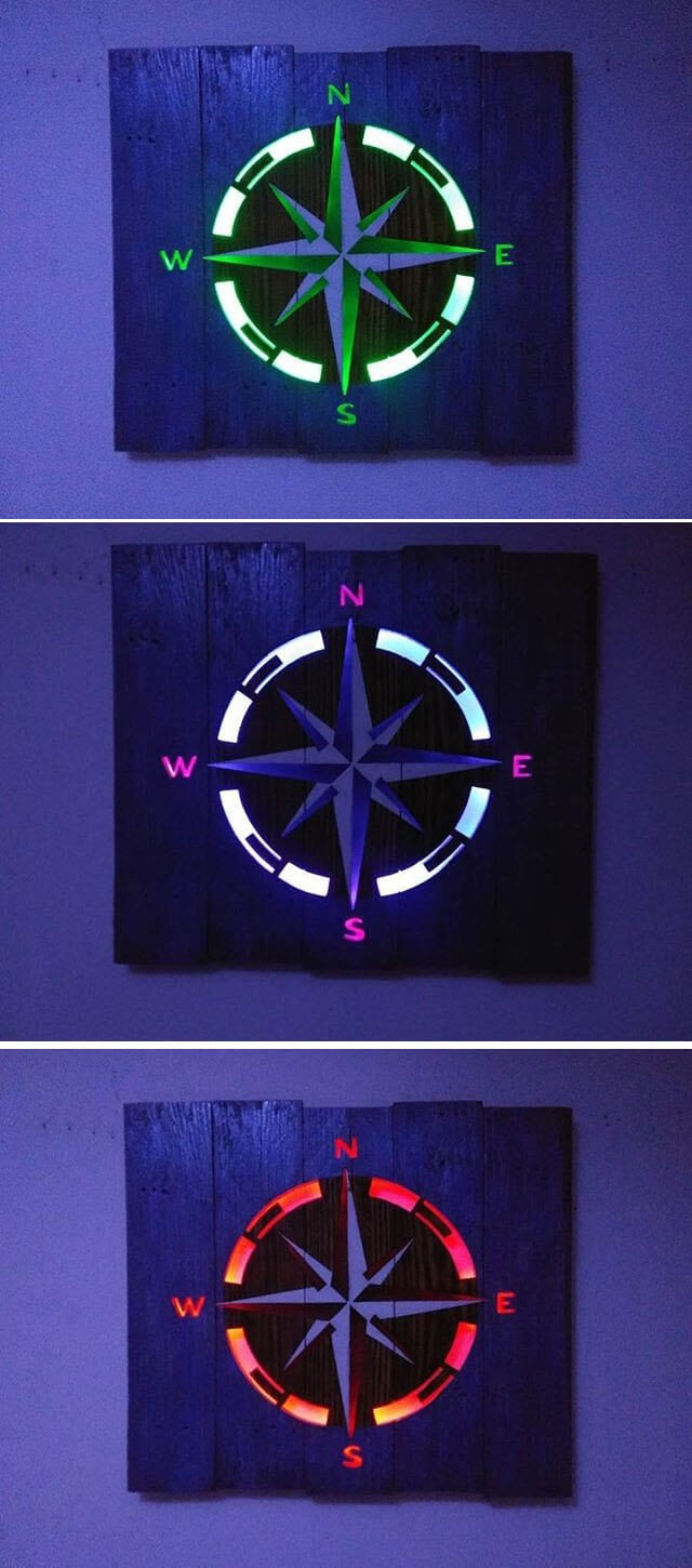 pallet wall clock project ideas