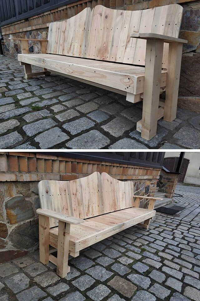 top pallet benches ideas