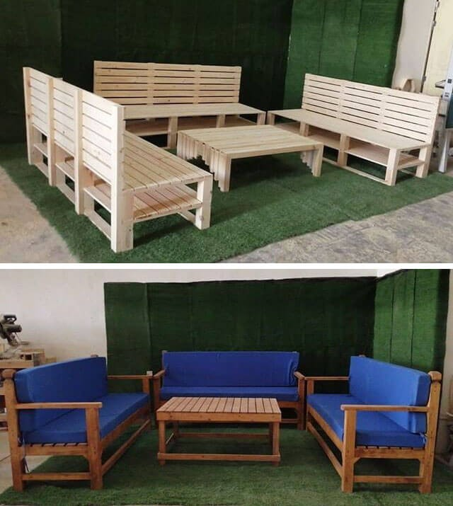 outdoor pallet sofa set furniture ideas