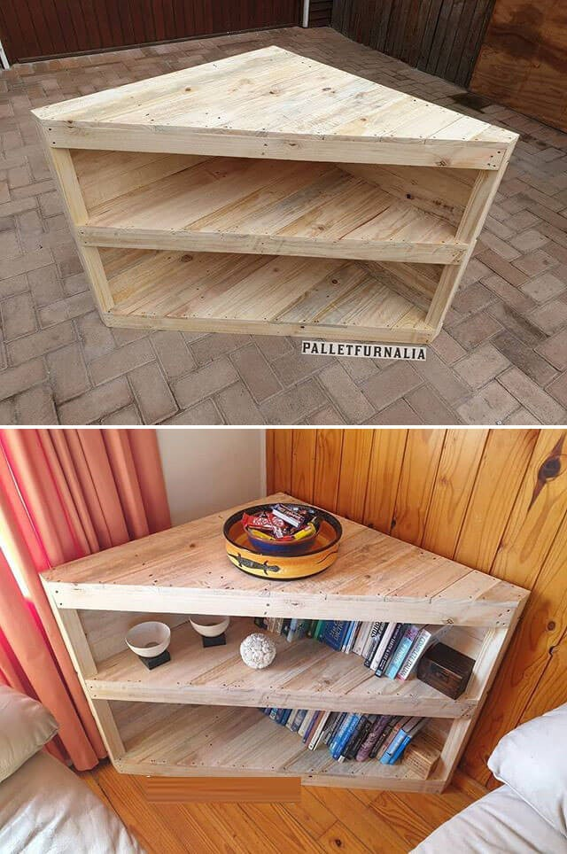 pallet corner table ideas