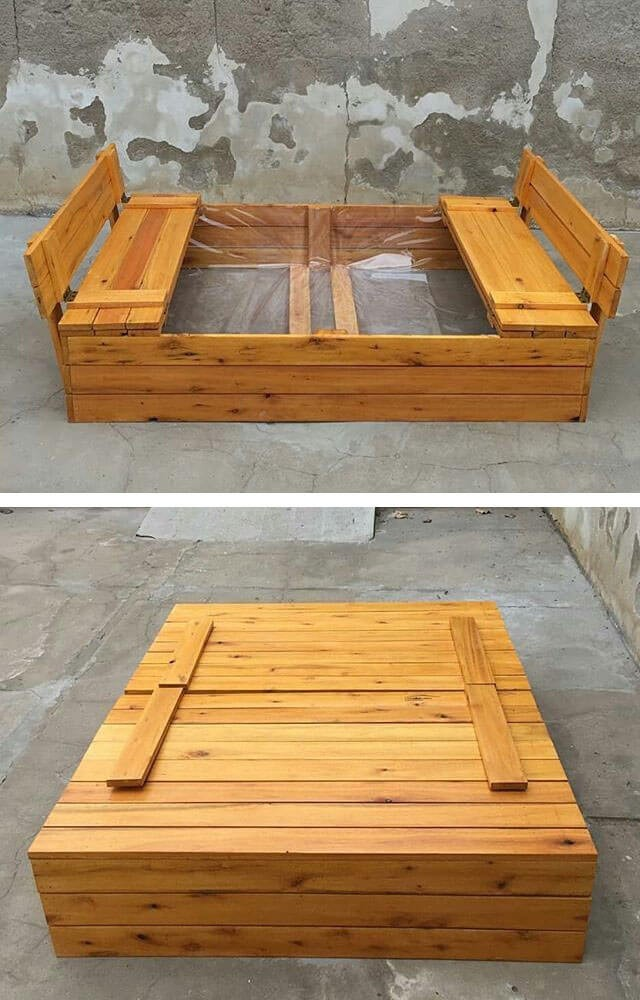 outdoor pallet kids play box