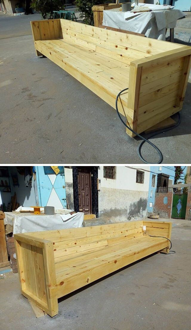 Unbelievable Amazing Pallet long bench