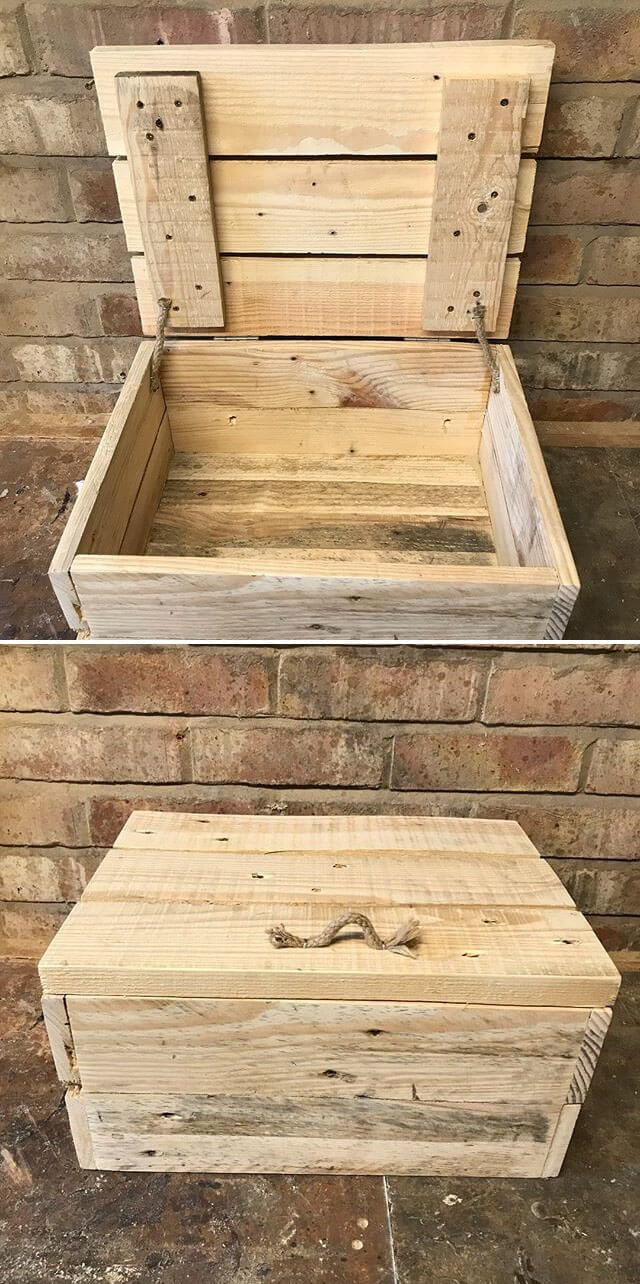 One level up pallet storage box ideas