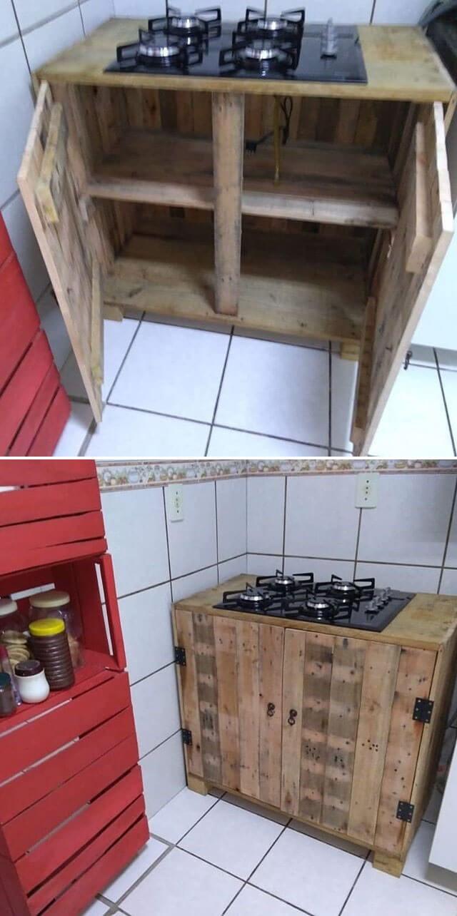 One level up pallet kitchen ideas
