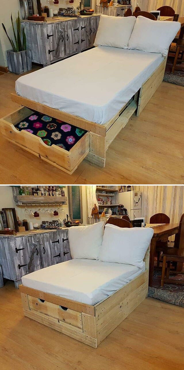 One level up pallet bed ideas
