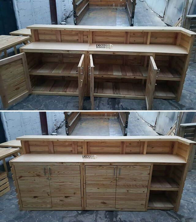One level up pallet bar table ideas