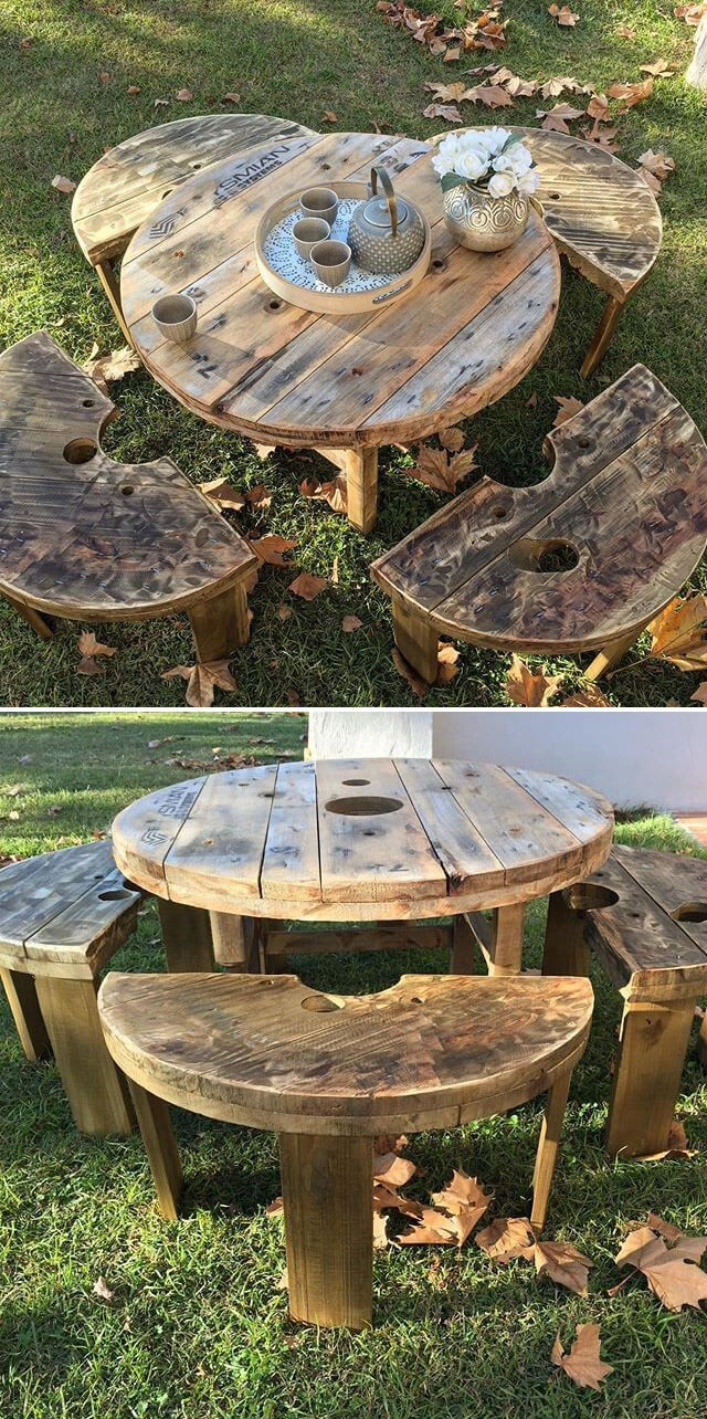 One level up pallet table project ideas