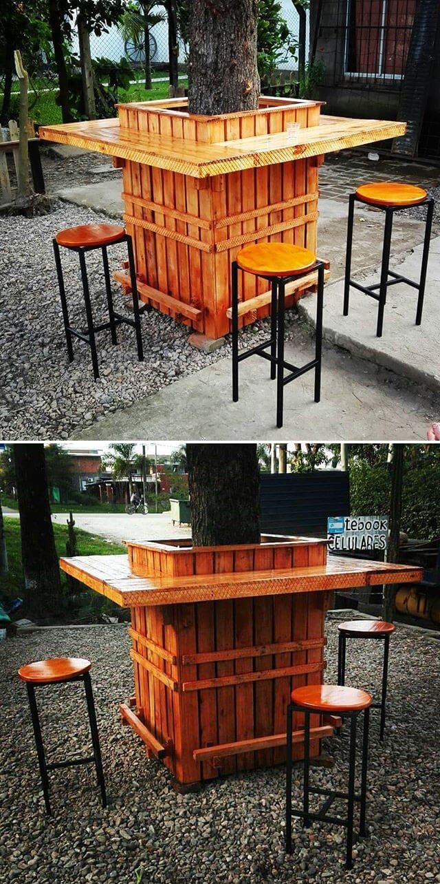 One level up pallet outdoor furniture