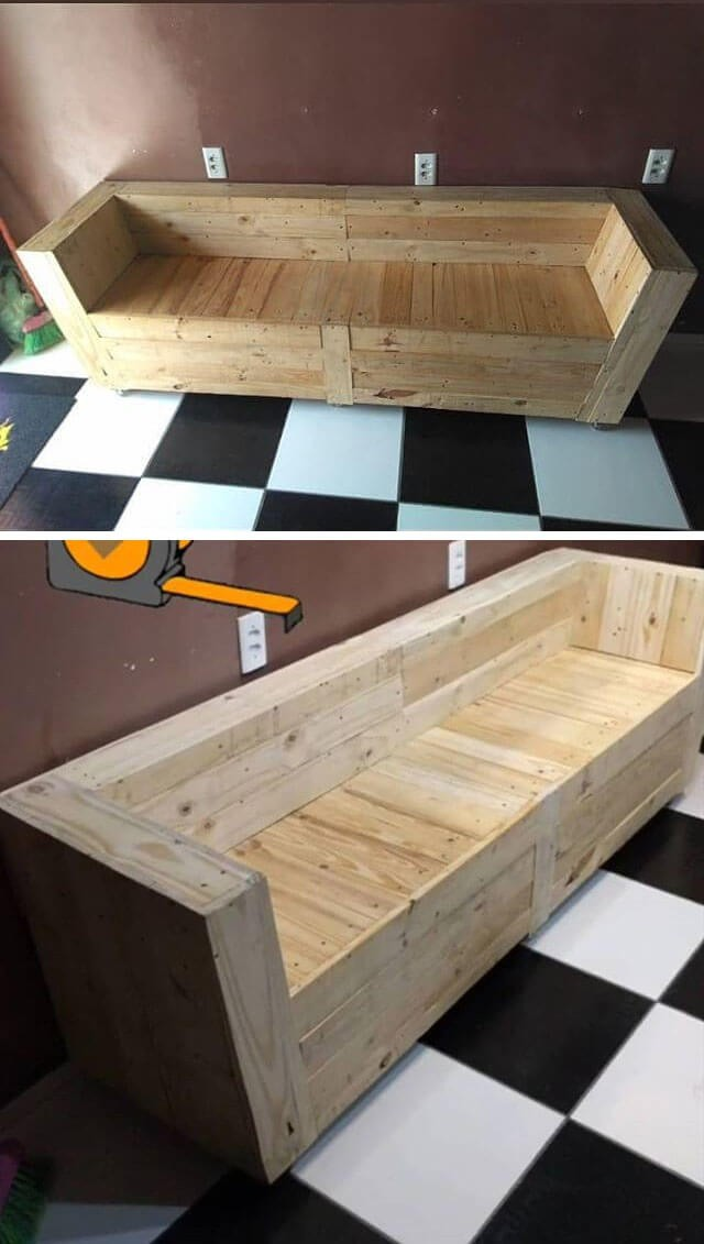 One level up pallet indoor benches