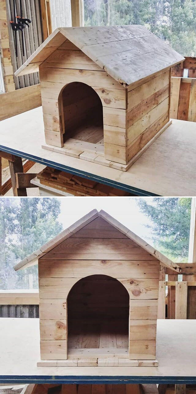 One level up pallet pet house ideas