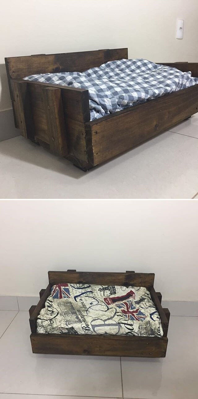 One level up pallet bed for kids